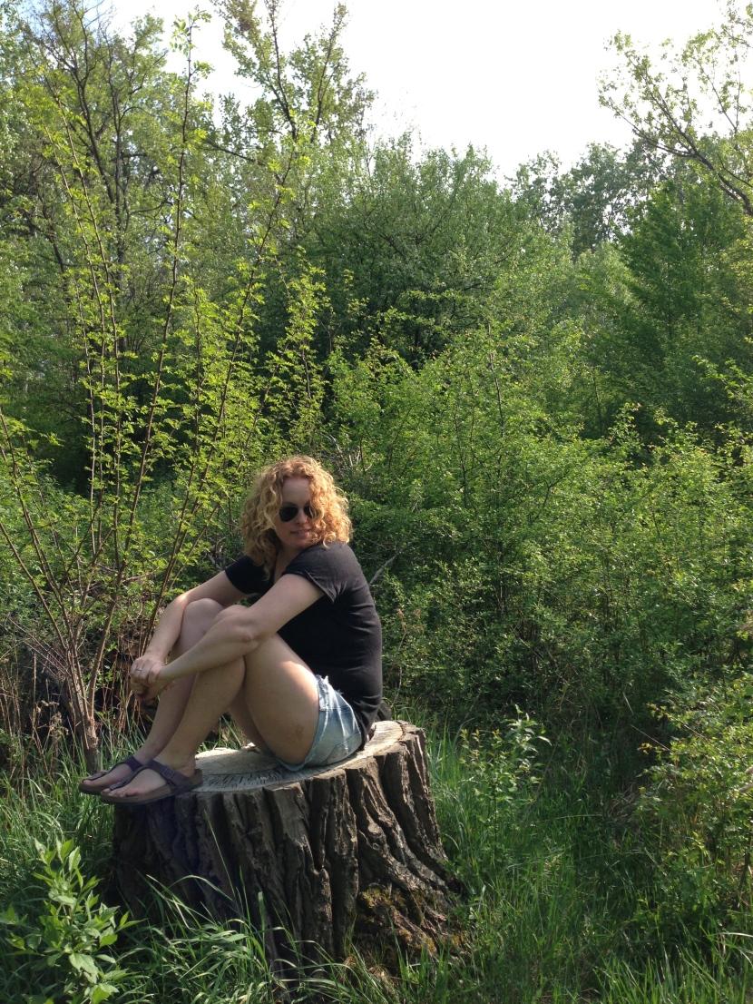 Dead tree pose!